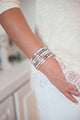 """FAITH"" Silver Bar Bracelet"
