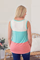 Color Block Tank - Aqua