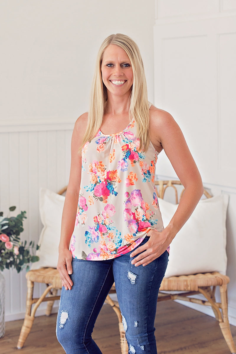Neon Floral Tank