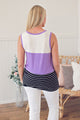 Color Block Tank - Purple