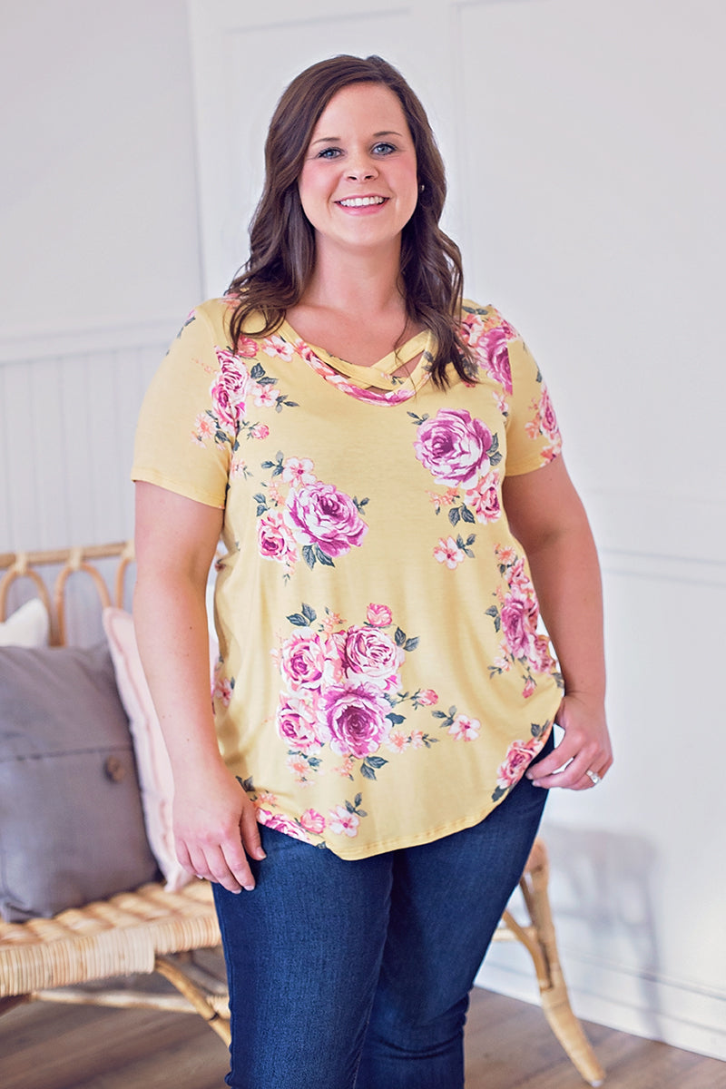 Floral Tunic-Yellow