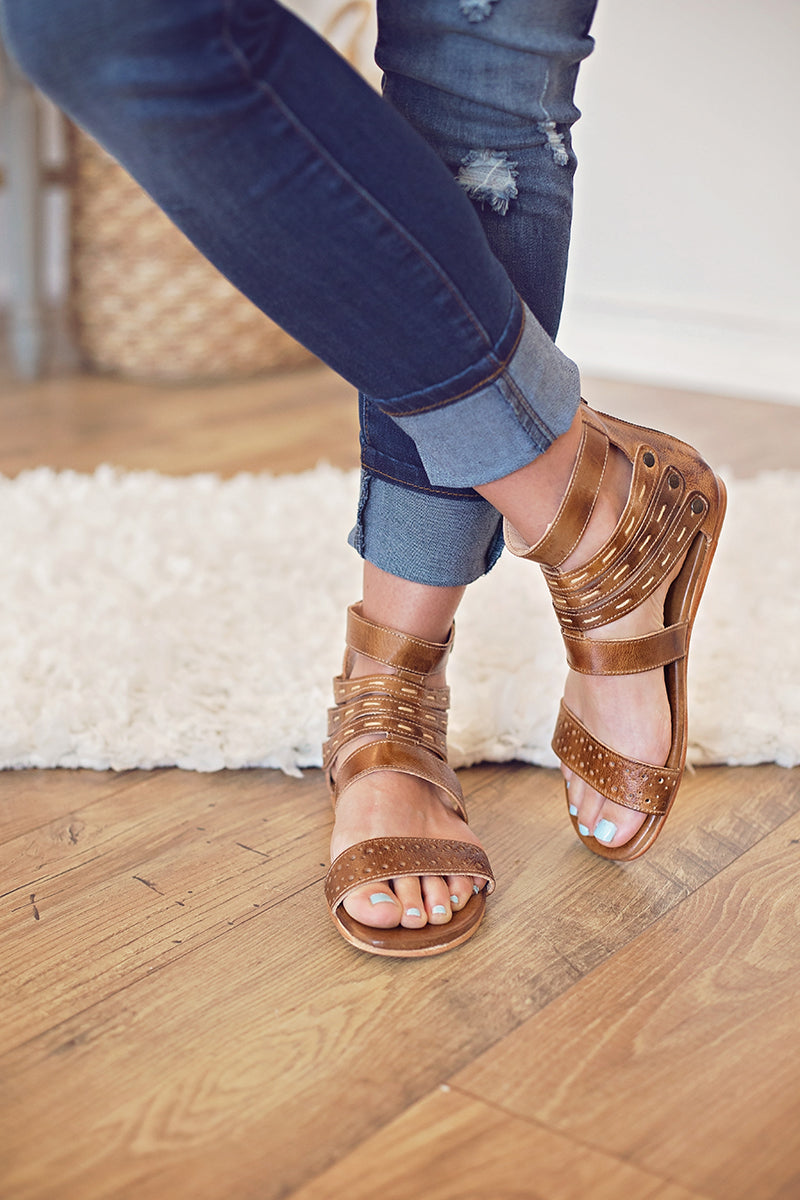 Glatiator- Genuine Aged Leather Sandal