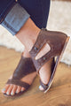 SOTO- Genuine Aged Leather Sandal