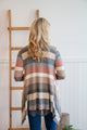 Taupe Striped Cardigan