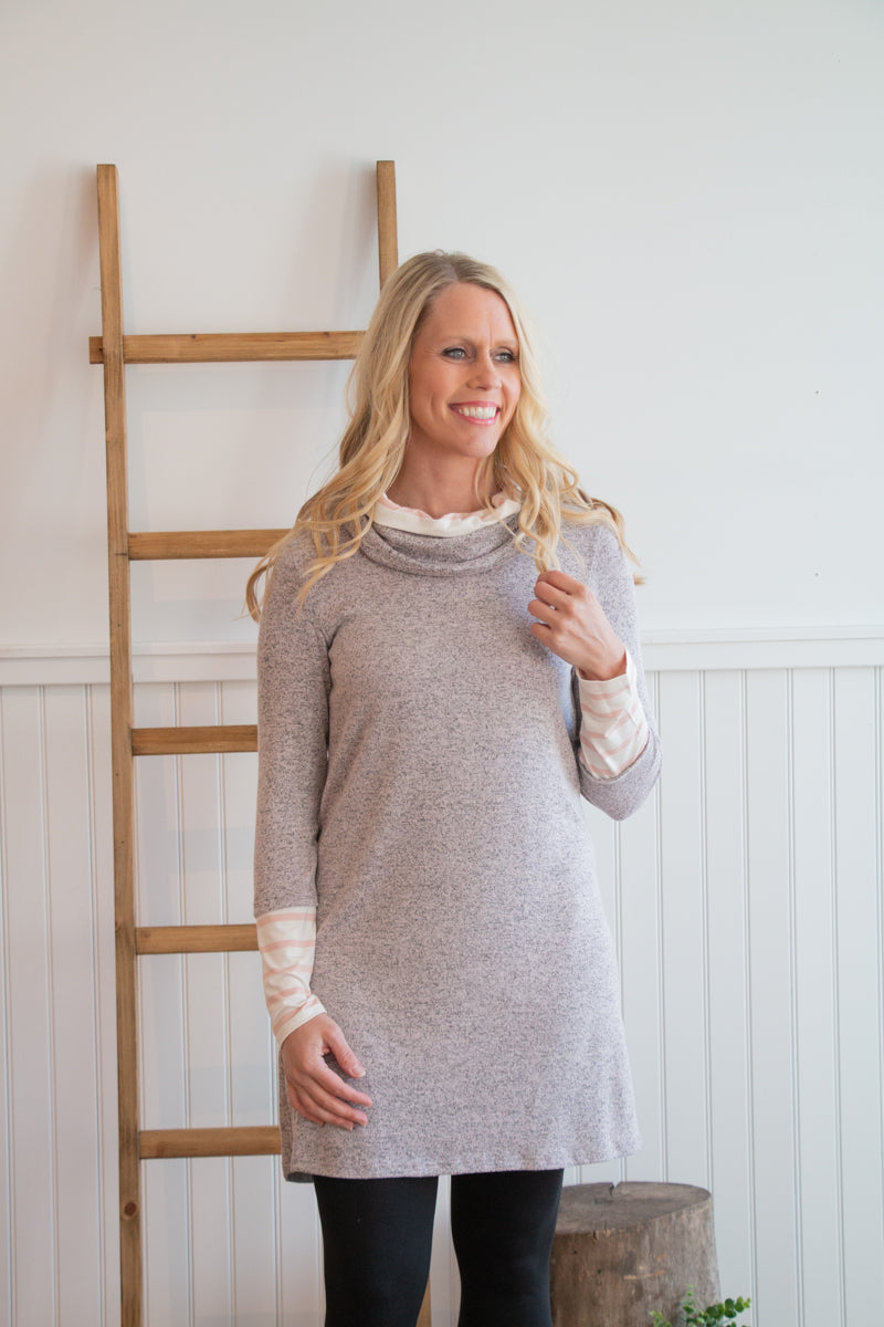 Soft Pink Sweater Dress