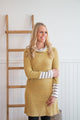 Soft Mustard Sweater Dress