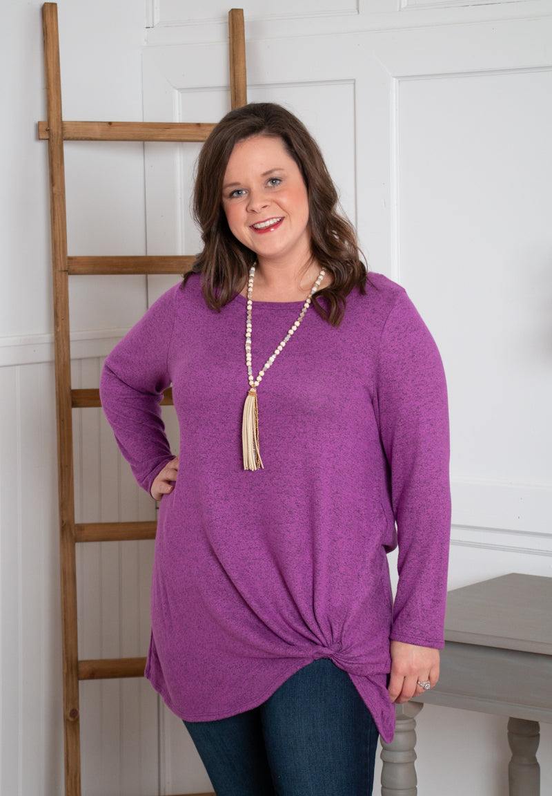 Bright Magenta Twist Sweater