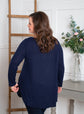 Navy Scoop Neck Sweater