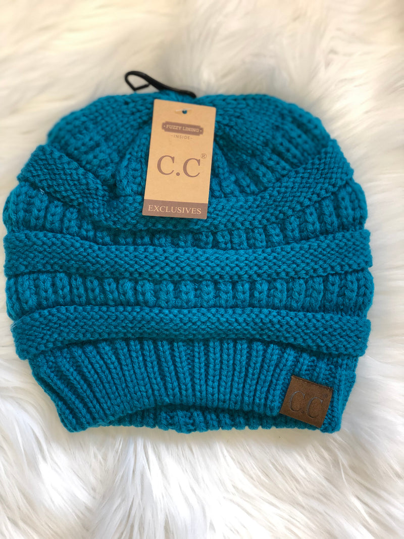 C.C Fleece Lined Beanie - Teal