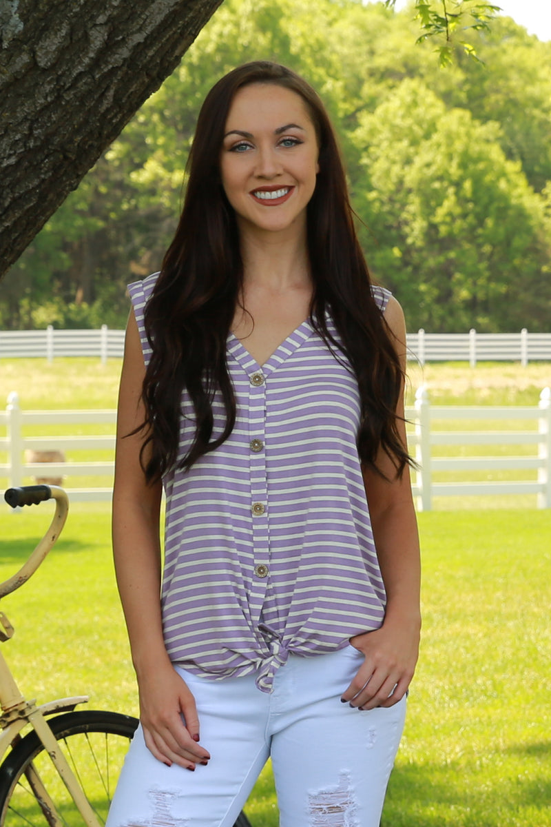 Purple Stripe Tunic