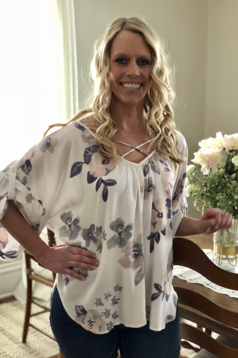 Soft Floral Blouse