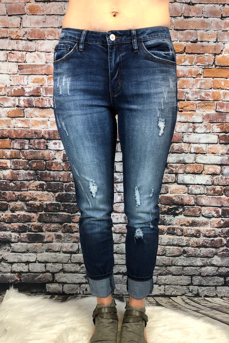 Light Distressed Denim by KanCan