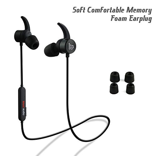 iblast audio Bluetooth Earbuds, Wireless 4 1 Sports Sweatproof Workout  Running Magnetic Headphones Secure Fit Noise Cancelling Headset with Mic  for