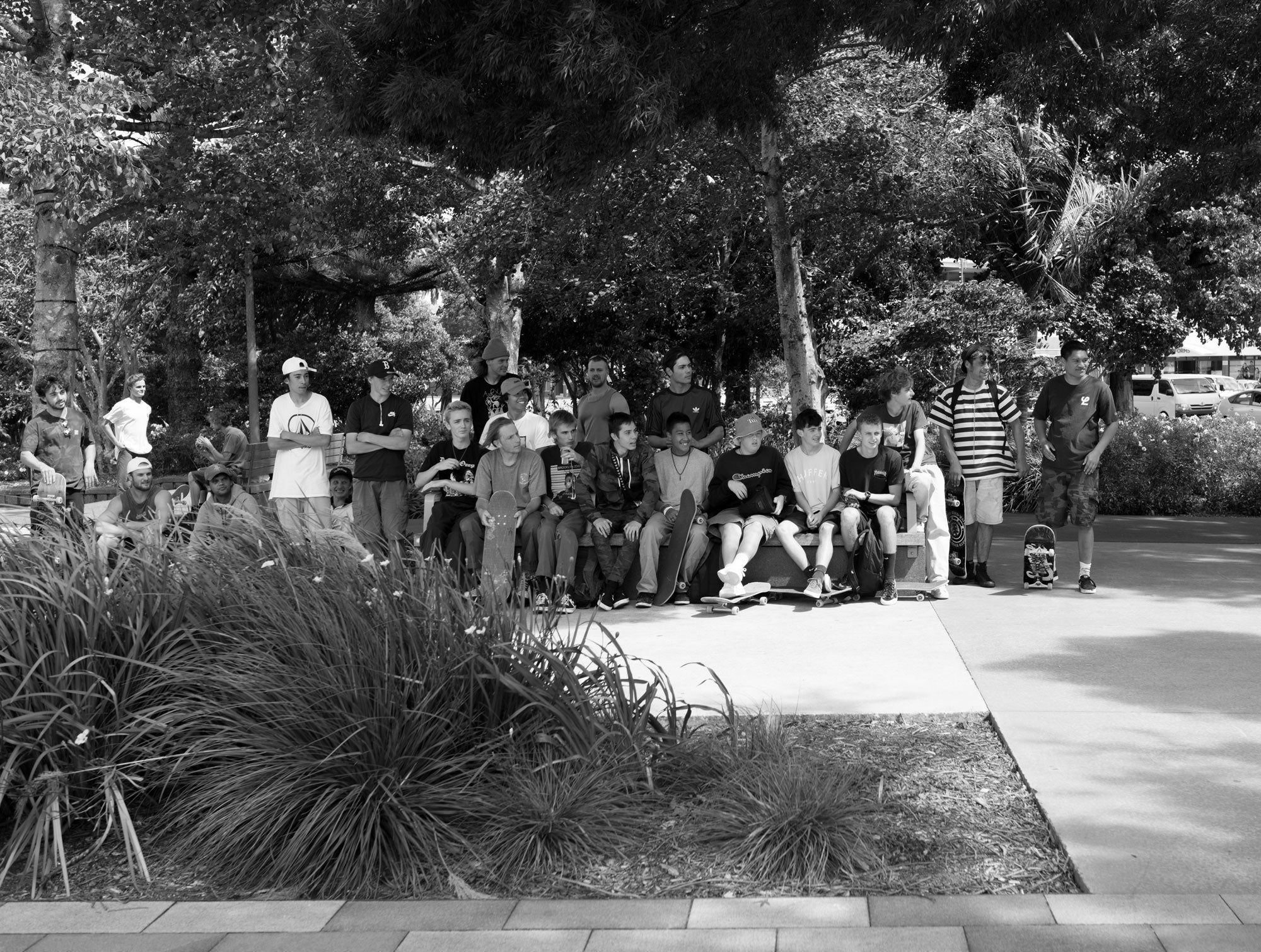 crowds watching skateboarding