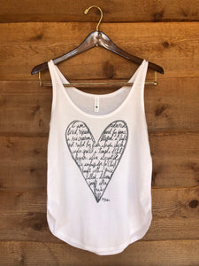"""Heart - I am"" tank top"