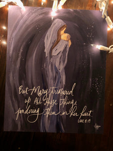 But Mary treasured | Christmas Print