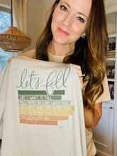 "Load image into Gallery viewer, ""Let's Fall"" Tee - Gray"