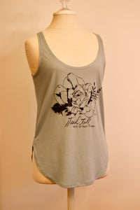 """Stand Tall"" Teal tank top"