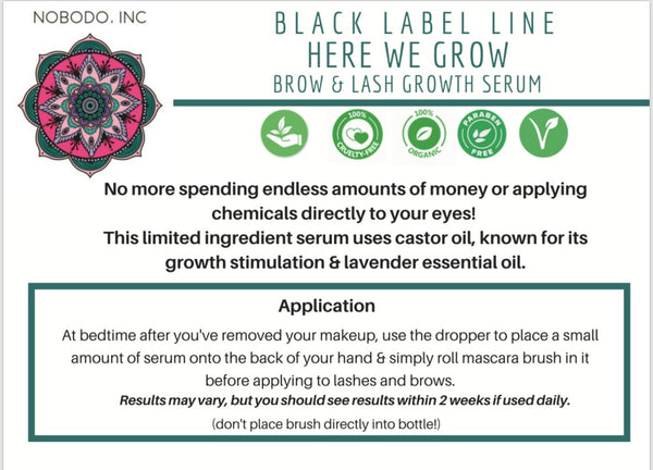 HERE WE GROW - Brow and Lash Growth Serum