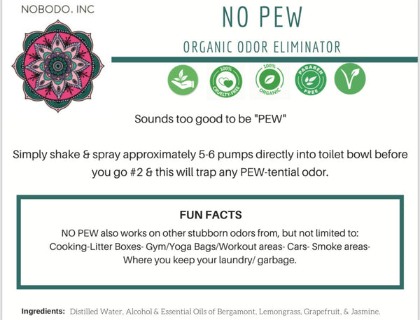 NO-PEW - Organic Odor Eliminator
