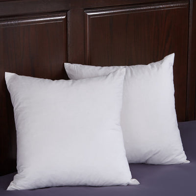 PUREDOWN - Goose Feather and Goose Down Square Pillow, White, Set of 2 - Puredown