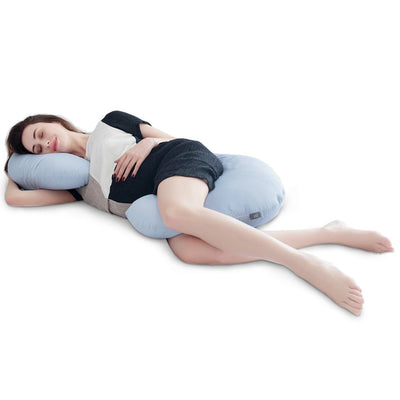 PUREDOWN - C Shaped Maternity/Pregnancy Contoured Body Pillow with Zipper Cover