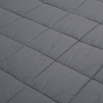 PUREDOWN Quality Premium Adult Weighted Blanket with Glass Beads, 7 lb-25 lb, Dark Grey, Light Grey