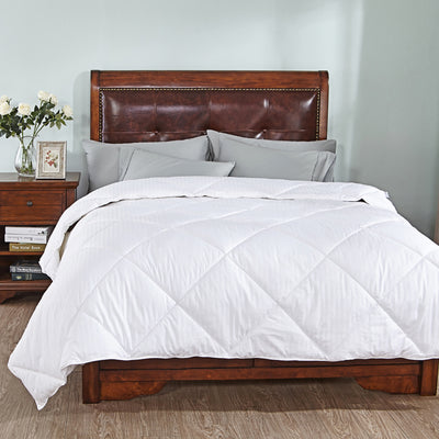 All Season White Down Alternative Comforter with Cotton Shell, 260 TC