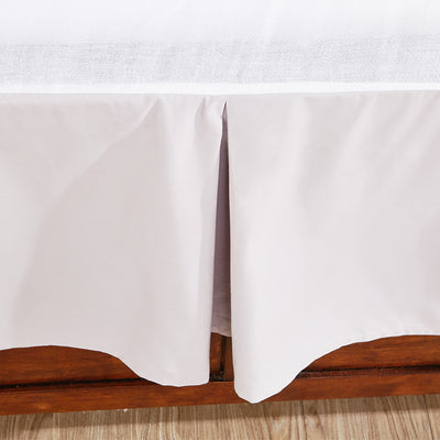 PEACE NEST Cotton Sateen Pleated Bed Skirt Dust Ruffles 15-inch Drop