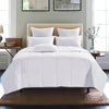 Lightweight Down Comforter with 100% Cotton shell, 600 Fill Power, Sewn-Through Construction