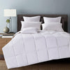 Lightweight Down Comforter with 100% Cotton shell, 600 Fill Power, Sewn-Through Construction, 233 TC