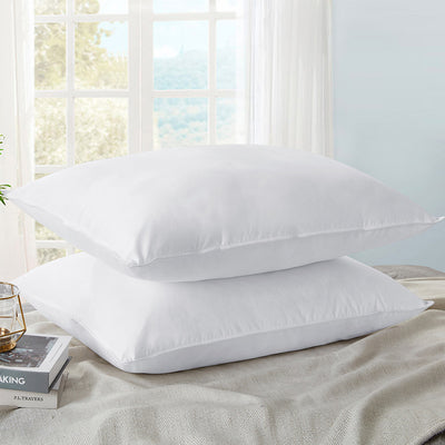 2 Pack Ultrafeather Pillows for Sleeping with 100% Cotton Cover