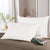 White Goose Feather Pillows, Firm Feather Pillows for Sleeping, 233 TC, Set of 2