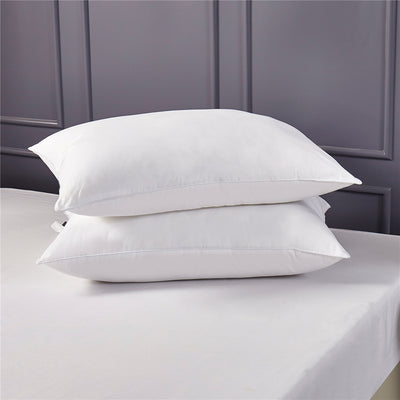 Natural Feather and Down Pillows With 100% Cotton Cover, 233 TC, Set of 2