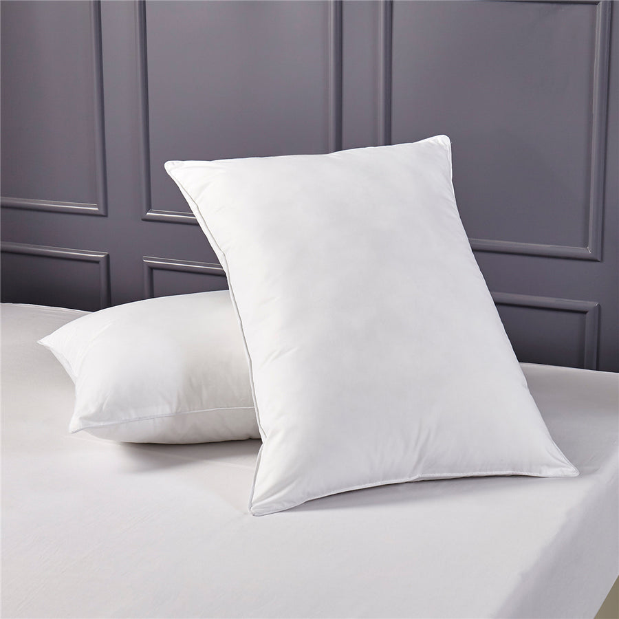 2 Pack Natural Feather and Down Pillows With 100% Cotton Cover