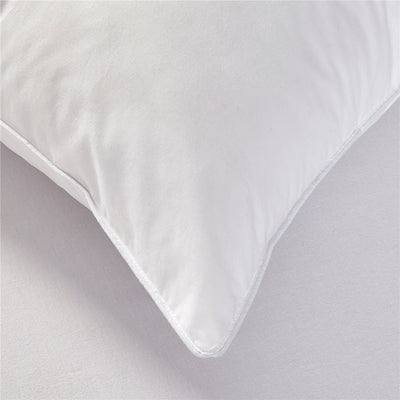 Natural Goose Feather and Down Pillows With 100% Cotton Cover, 233 TC, Set of 2