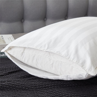 PUREDOWN 2 Pack Luxury White Goose Down Pillow Soft Down Pillows with 2 Pillowcases