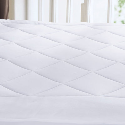 PUREDOWN - Coral Fleece Down Alternative Mattress Pad/Topper, White - Puredown