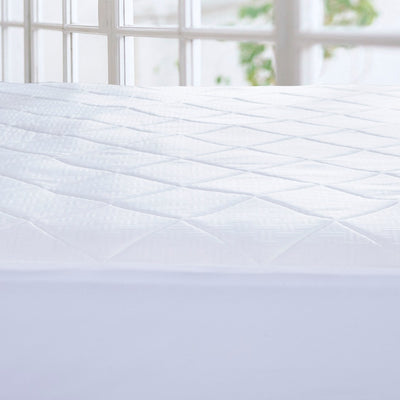 PUREDOWN - Memory Foam Mattress Pad Topper, Diamond Quilting, White - Puredown