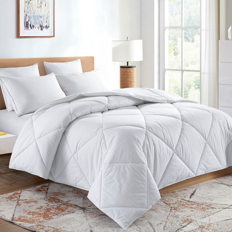 All Seasons Down Alternative Comforter 100% Cotton Cover 450 TC