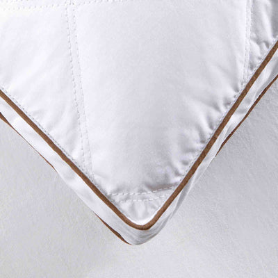 Puredown 2 Pack Firm Feather Pillows for Sleeping Down Pillows 100% Cotton Cover Downproof