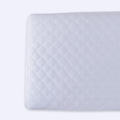 Puredown Waterproof Quilted Crib Mattress pad with Clover Pattern for Baby Fitted White Set of 2