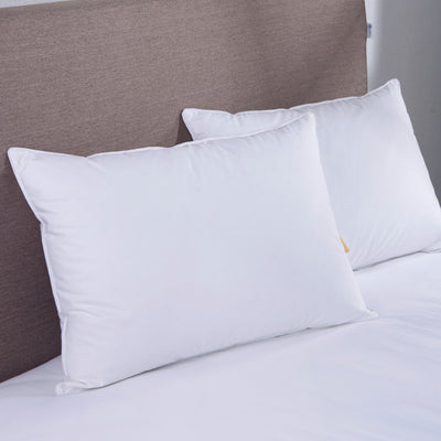 PUREDOWN - White Goose Down Bed Pillow, Set of 2 - Puredown