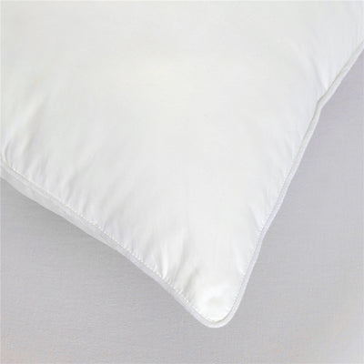 PUREDOWN Goose Down Bed Pillow, White, Set of 2