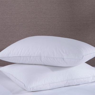 PUREDOWN - Down & Feather Bed Pillow, White, 233 TC, Set of 2 - Puredown