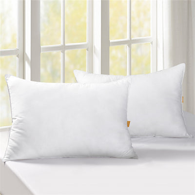 2 Pack 50% Down & 50% Feather Bed Pillows 100% Cotton Cover 300 thread count