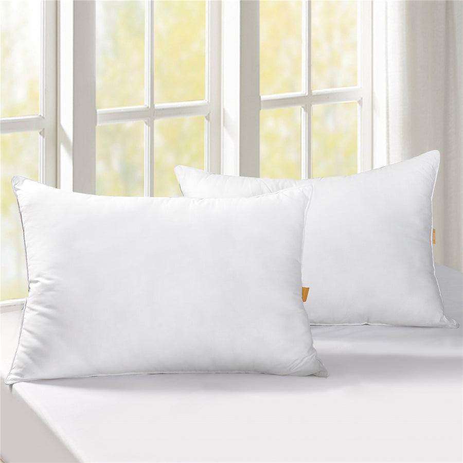 0abf45923a134 PUREDOWN 50% Down & 50% Feather Bed Pillows, 300 TC, 100%