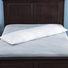PUREDOWN - 30% DOWN & 70% FEATHER BODY PILLOW, WHITE