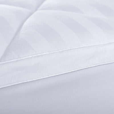 PUREDOWN - Mattress Pad Topper, Box Quilt Design, 500 Thread Count, 100% Cotton Top, White - Puredown