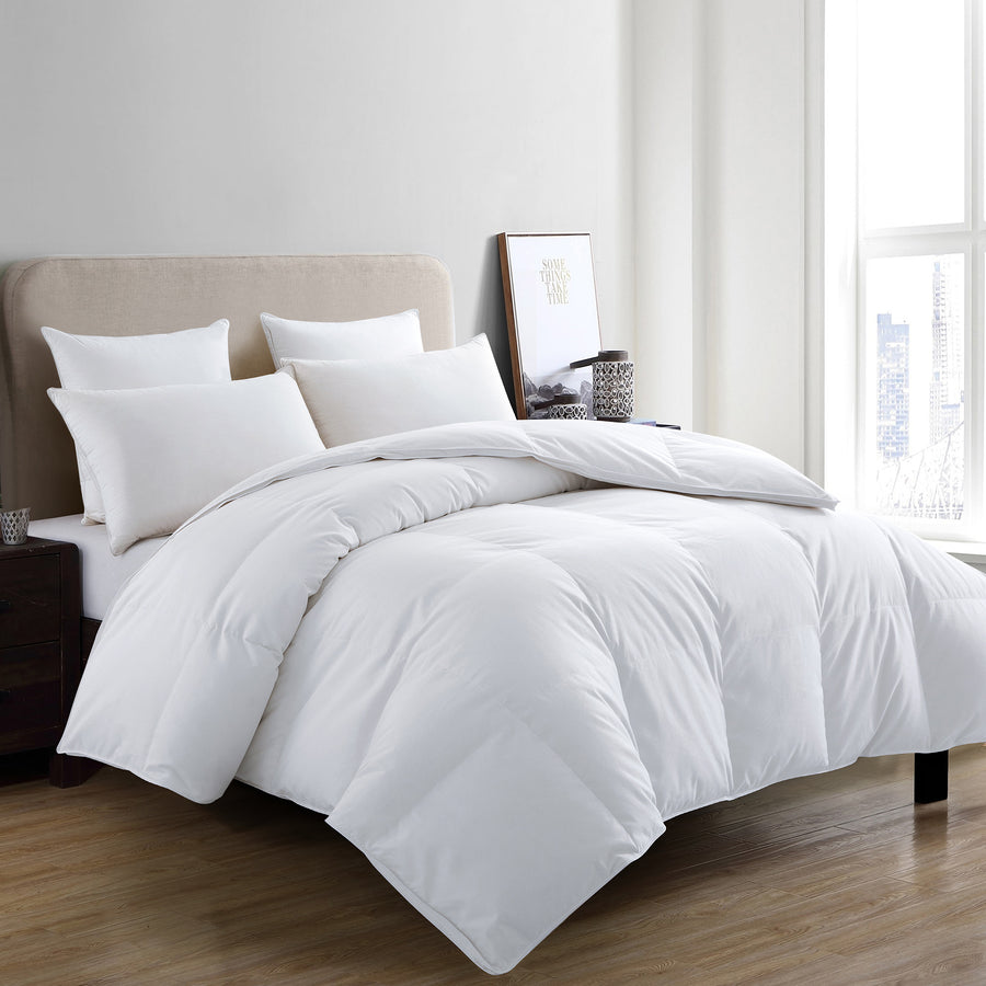 Premium White Goose Down Winter Comforter 700 TC, 600 Fill Power